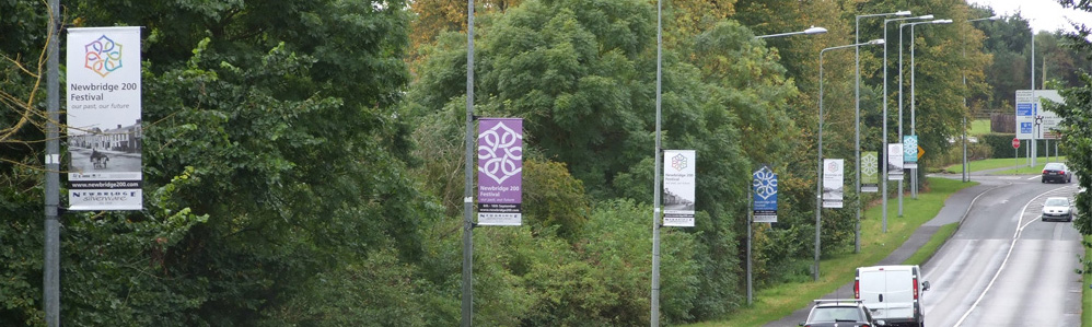 N200  Curragh lamppost banner flags