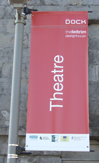 theatre lamp post flags banner 200 wide 1